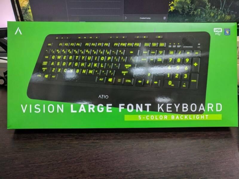 7c19b6f5509 AZIO Vision Large Font Backlit Keyboard (NEW UNOPENED) KB506 ...