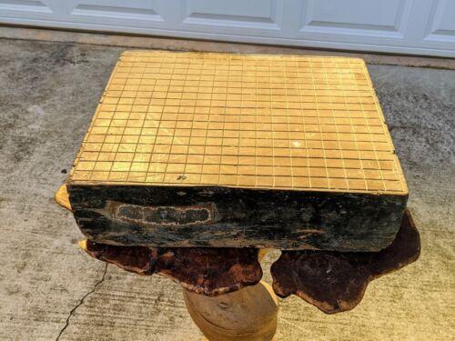 ANCIENT GOBAN GO GAME BOARD Antique Japan