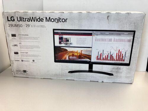 New LG UltraWide LED Monitor 29UM50, 21:9, IPS, Screen Split, HDMI - Box Defect