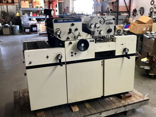 MULTILITH MULTI 1860 OFFSET PRINTING PRESS w/ T51 SWINGAWAY w/btls Ink