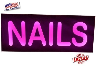 Nails Sign -led Light Box Signmanicurepedicure Sign 12x30x2