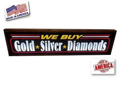 We Buy Gold Sign Silver-diamond Led Light Box Signs