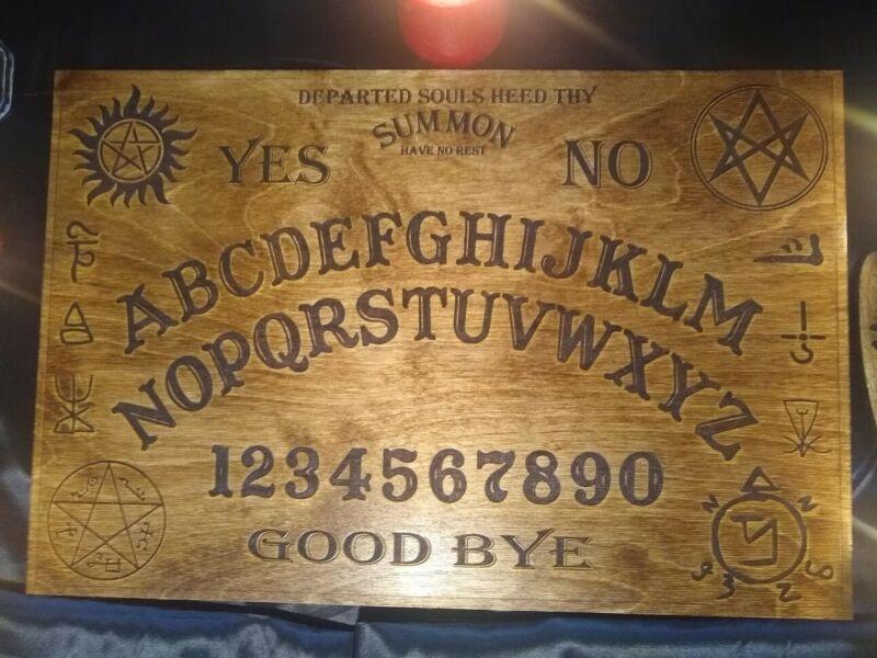 "Ouija board Spirit Board (18"" X 12"") Witchcraft Communicate With The Dead Quija"