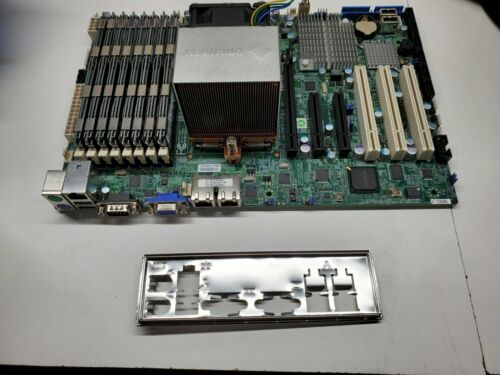 SuperMicro H8SGL-F Motherboard w/ AMD Opteron 6376 16 core CPU & 64GB Ram & sink