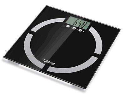 Duronic BS401 TouchSense 180kg BodyFat Analyser Digital Bathroom Scales Black