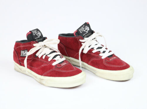 Vtg 90s Vans Made in USA Half Cab Steve Caballero Red Suede Leather Shoes Sz 10