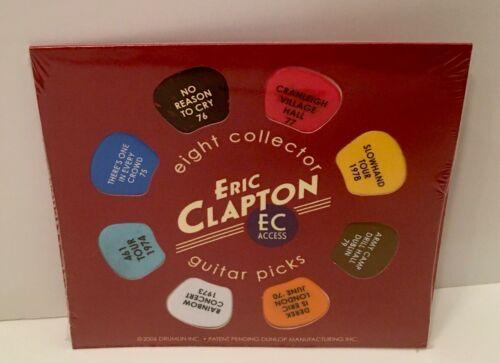 ERIC CLAPTON 8 GUITAR PICK SET - WORLD TOUR 1970-1979