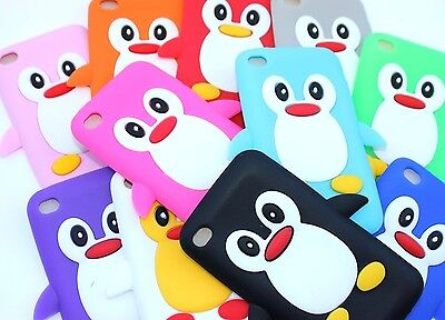 For iPod Touch 4th Gen - Soft Silicone Rubber Skin Case Cover Penguin Accessory 4th Gen Skin