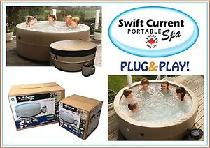 Swift Current Portable Spa PLUS Curved Wicker Step - Free Shipping