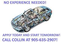 $18.82/HR AUTOMOTIVE MANUFACTURING - ROTATING SHIFTS