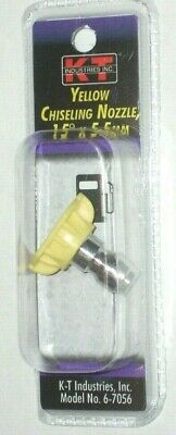 Kt Industries 6-7056 Yellow Chiseling Nozzle 15 Deg X 5.5 Mm Pressure Washer Tip