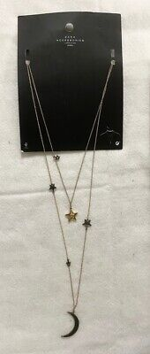 Zara accessories collection Long Necklace Star Moon Charm - NEW