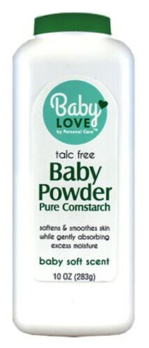 Baby Love Baby Powder Pure Cornstarch Baby Soft Scent 10oz.