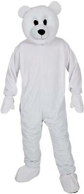 Adult Bear Costumes (Adult Polar Bear Mascot Costume Unisex Christmas Xmas Fancy Dress Animal)