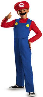 Mario Kinderkostüm Super Mario Videospiel rot-blau Cod.224037