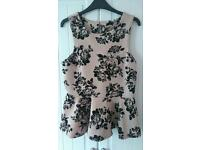 Black and Pink Size 14 New Look Peplum Top