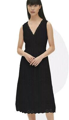 NWT Gap Eyelet Embroidered V-Neck Midi Dress, Size 6