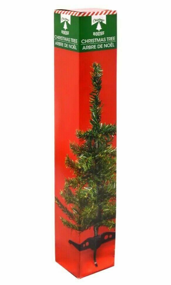 Table-Top Artificial Christmas Tree Green 18 inches Christmas House Mini Small Christmas Trees