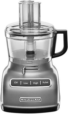 KitchenAid KFP0722CU 7-Cup Food Processor with Exact Slice System Contour Silver