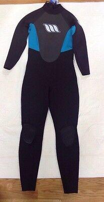 4e6338e2fe WEST Enforcer Black   Blue Full Surfing Wet Suit Men s Size 3.2 Large 14