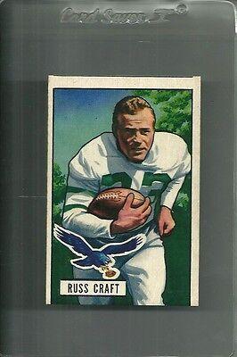 1951 Bowman Football #47 Russ Craft Eagles Set Break Mint oc