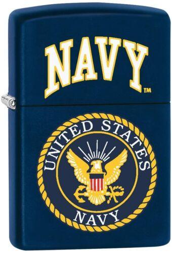 Zippo 1026, United States Navy Logo Design, Navy Blue Matte Finish Lighter
