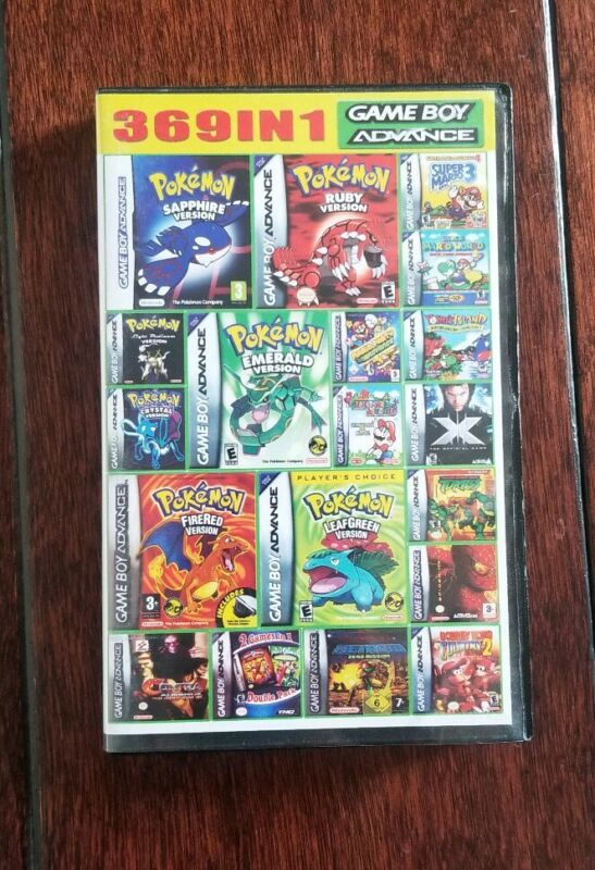 369 games in 1 Nintendo Game Boy Advance GBA DS Lite US SHIPPER