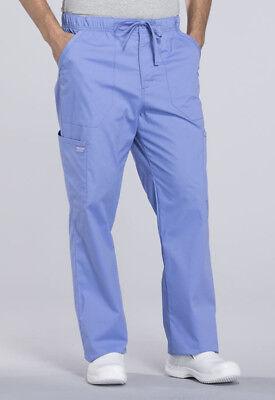 Ciel Blue Cherokee Scrubs Workwear Professionals Mens Drawstring Pants WW190 CIE ()