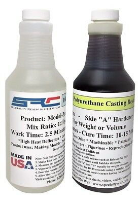 Urethane Casting Resin Liquid Plastic With Dispensing Pumps 32 oz Kit