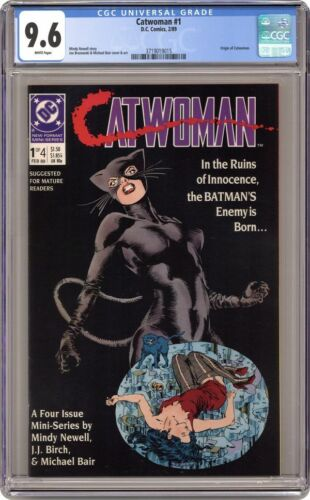 Catwoman #1 DC 1989 CGC 9.6 NM+ 1st Solo Mini Series Origin Story White Pages