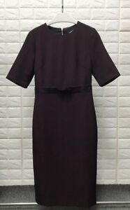 Ted Baker MAGGIDD Ruffle waist pencil dress size 10 or 12