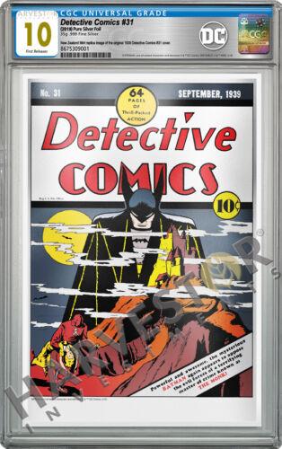 2019 DC COMICS - DETECTIVE COMICS #31 - PREMIUM SILVER FOIL - CGC 10 GEM MINT FR