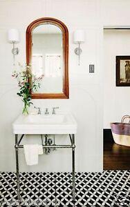 Pimlico Victorian Encaustic Black White Porcelain Wall Floor Tiles RRP £64.99sqm