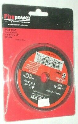 Victor Firepower 1423-3157 Abrasive Cut Off Wheels 4 X 116 X 58 For Metal 5pk