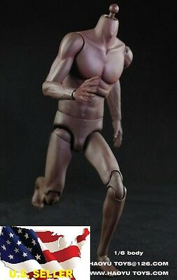 1/6 Michael Jordan Muscular Male African extra tall body for Enterbay body USA