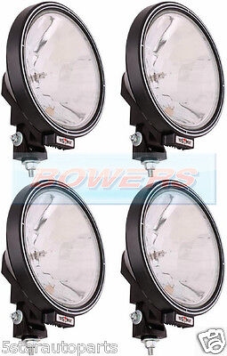"4 x 12V/24V 9"" ROUND SPOT/DRIVING/BAR LAMPS/LIGHTS TRUCK/LORRY/4X4/OFF ROAD"