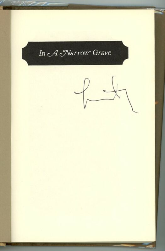 LARRY McMURTRY signed hardcover IN A NARROW GRAVE