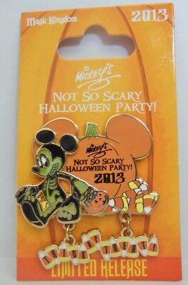 Disney Mickey as a Skeleton Not So Scary Halloween Party 2013 Dangle LE Pin - A Not So Scary Halloween Disney