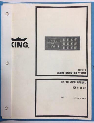 King KNR 615 Digital Navigation System Installation Manual l979 Original