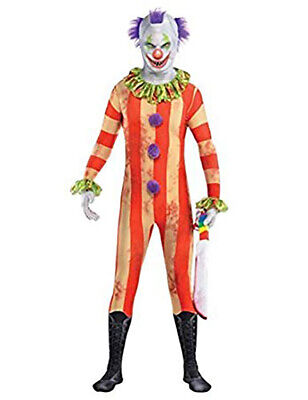 Scary Evil Man Clown Party Suit Halloween Second Skin Fancy Dress Costume Outfit](Halloween Clown Outfit)