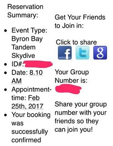 Skydive Byron bay booking for 2 people Gaythorne Brisbane North West Preview