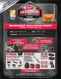 MILWAUKEE HEAVY DUTY TOUR - JULY 18th *SOUTH COMMON HOME DEPOT*