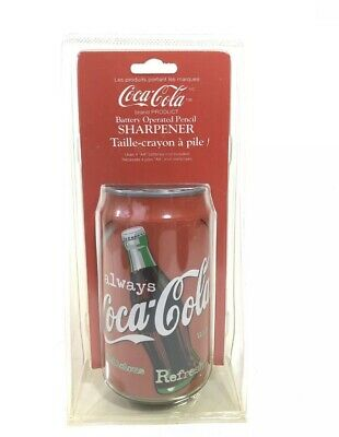 Vintage Coca Cola Can Battery Operated Pencil Sharpener 1998