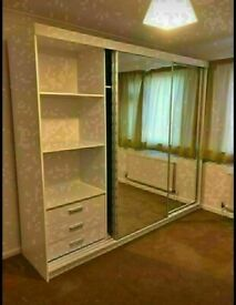 💥💯 BRAND NEW 2 AND 3 MIRRORED DOORS SLIDING WARDROBES WITH SHELVES, RAILS