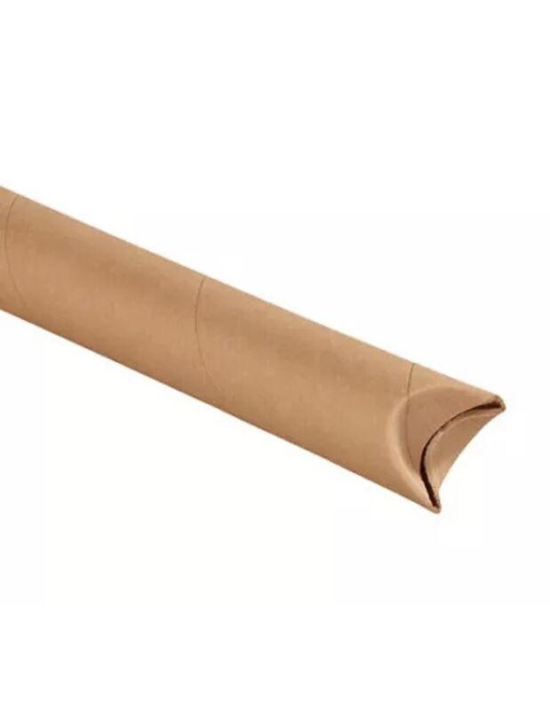 """2 x 18"""" Kraft Crimped End Tubes - 50 Per Case"""