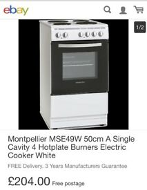 Brand New Montpellier Electric Cooker.