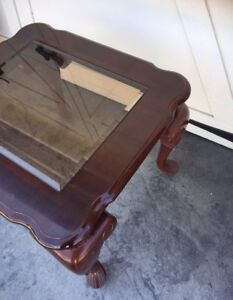 Cherry & Glass Coffee/End Table