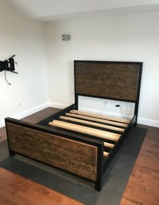 Modern rustic queen bed