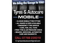 Tyres & Autocare mobile ! Mobile tyre service !