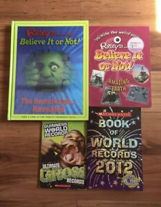 RIPLEY'S BELIEVE IT OR NOT/WORLD RECORDS BOOKS